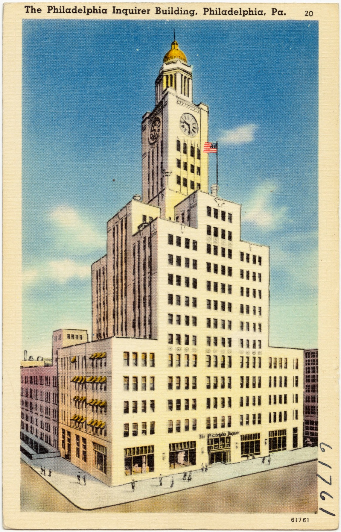 Inquirer Building circa 1930 to 1945_public domain
